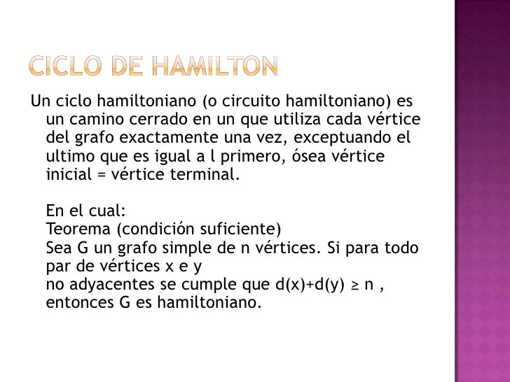 Circuito Hamiltoniano : C hamiltoniano de power point