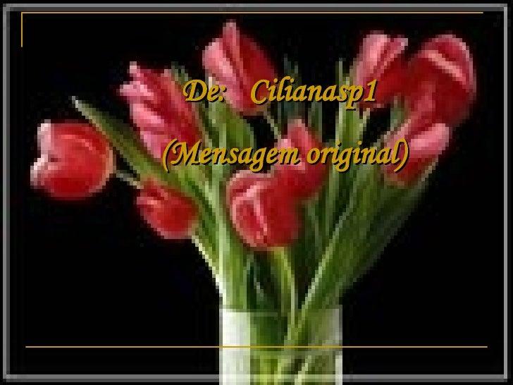 De:     Cilianasp1   (Mensagem original)