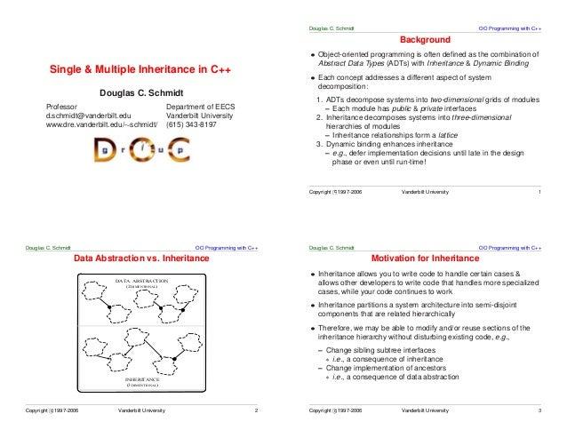 Douglas C. Schmidt                                     OO Programming with C++                                            ...