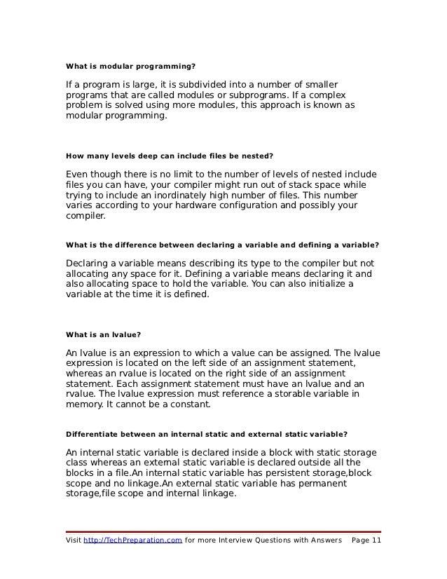 C interview-questions-techpreparation