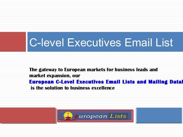 C Level Mailing Related Keywords & Suggestions - C Level Mailing