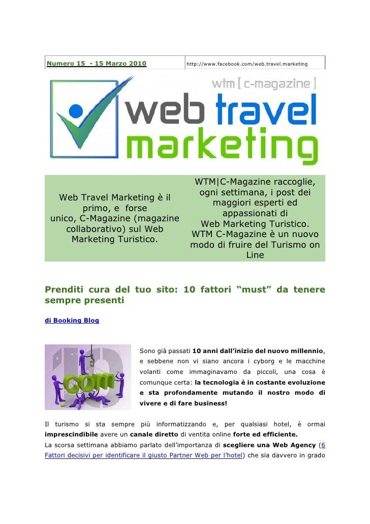 Numero 15 - 15 Marzo 2010                      http://www.facebook.com/web.travel.marketing                               ...