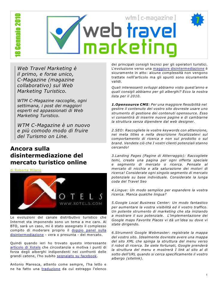 dei principali consigli tecnici per gli operatori turistici.    Web Travel Marketing è                                 L'e...