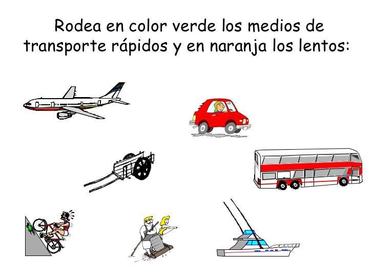 C Medio Los Medios De Transporte Primer Ciclo E Primaria