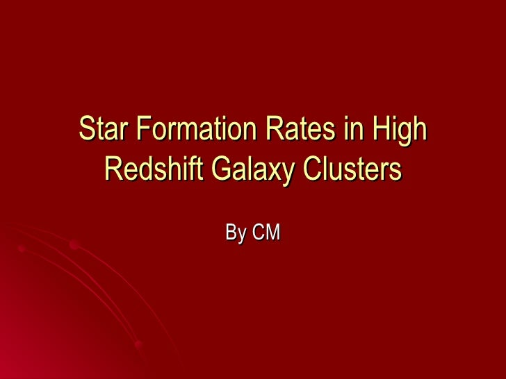 Star Formation Rates in High Redshift Galaxy Clusters By CM