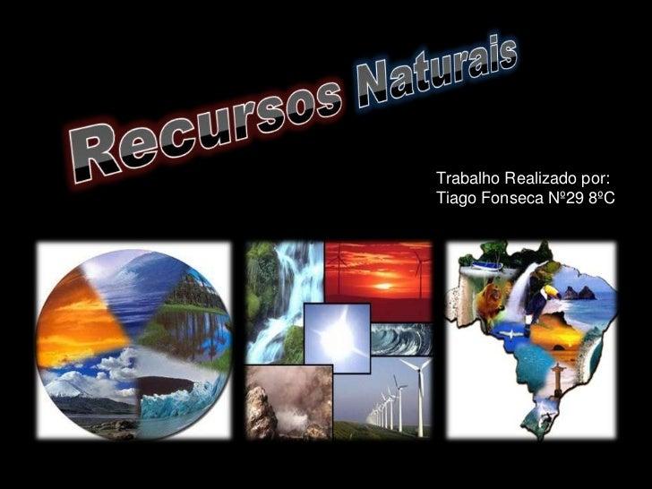 Trabalho Realizado por:Tiago Fonseca Nº29 8ºC