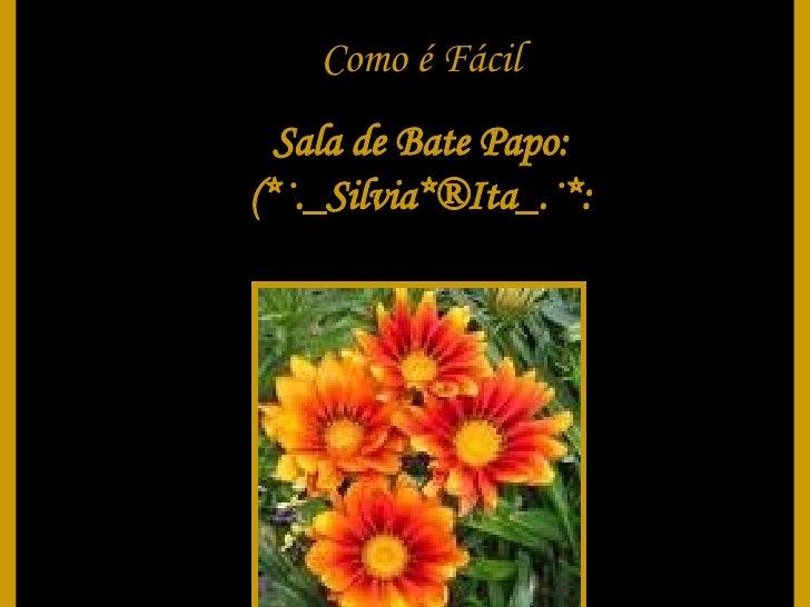 Como é Fácil Sala de Bate Papo: (*·._Silvia*®Ita_.·*: