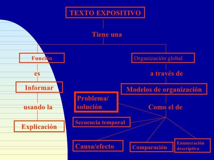 TEXTO EXPOSITIVO                        Tiene una      Función                            Organización global     es      ...