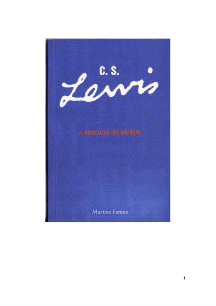 A ABOLIO DO HOMEM C S LEWIS PDF