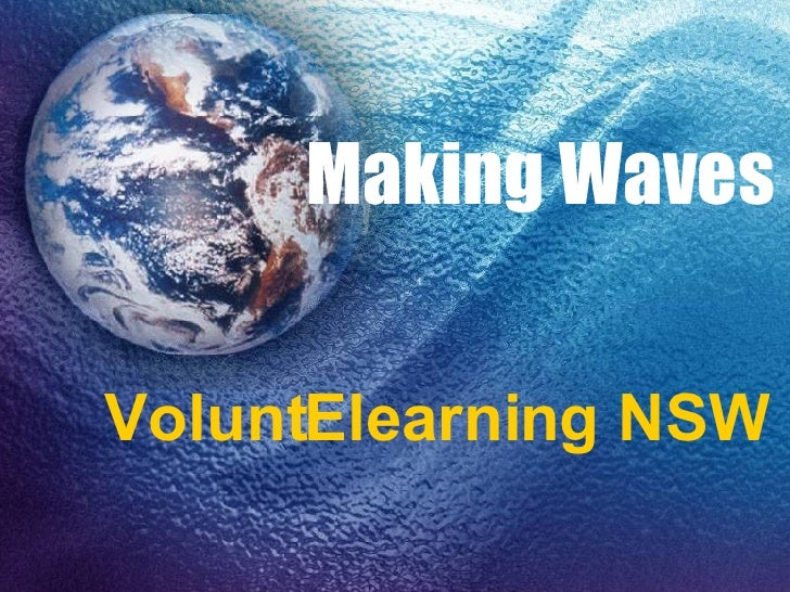 Making Waves VoluntElearning NSW