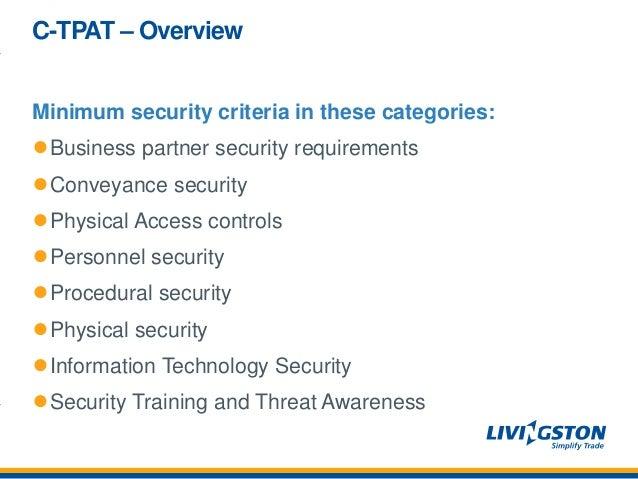 customs-trade partnership against terrorism (c-tpat): supply chain se…