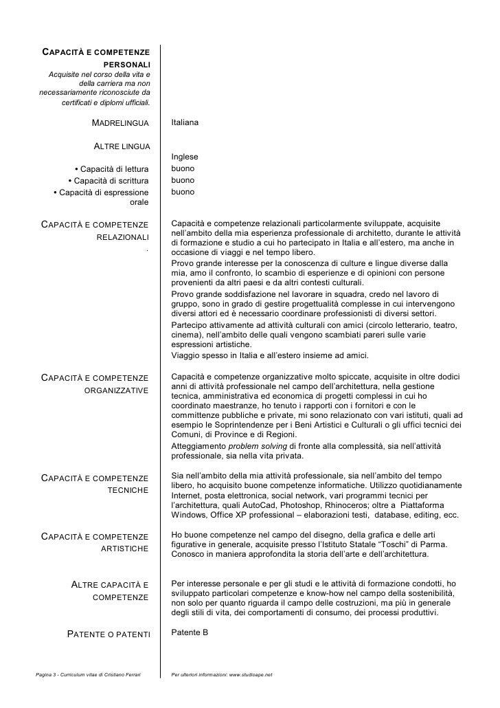 Curriculum Vitae Esempio Capacita E Competenze Relazionali Firmakoek