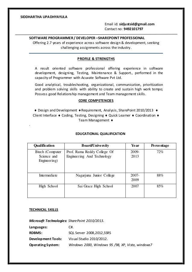 siddhartha resume  update