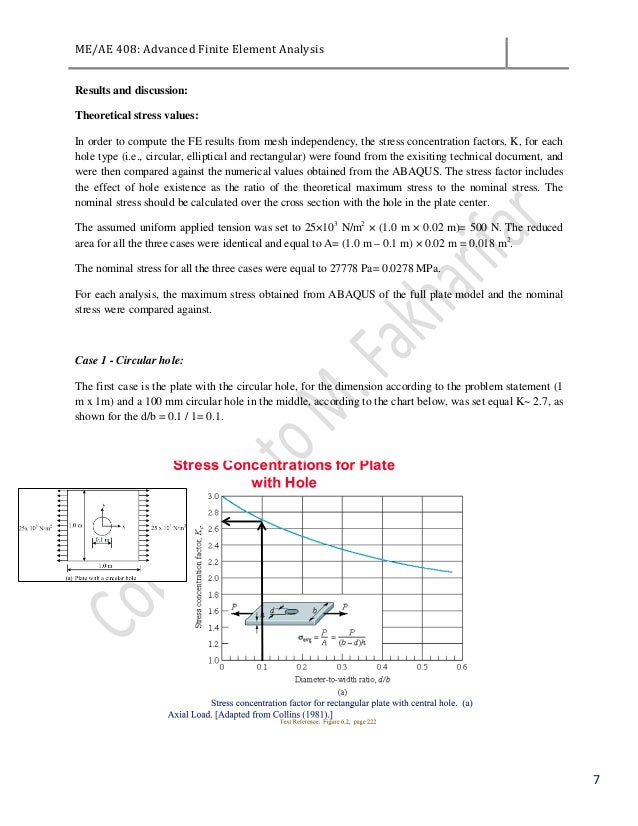 FEA Project-Plate Analysis