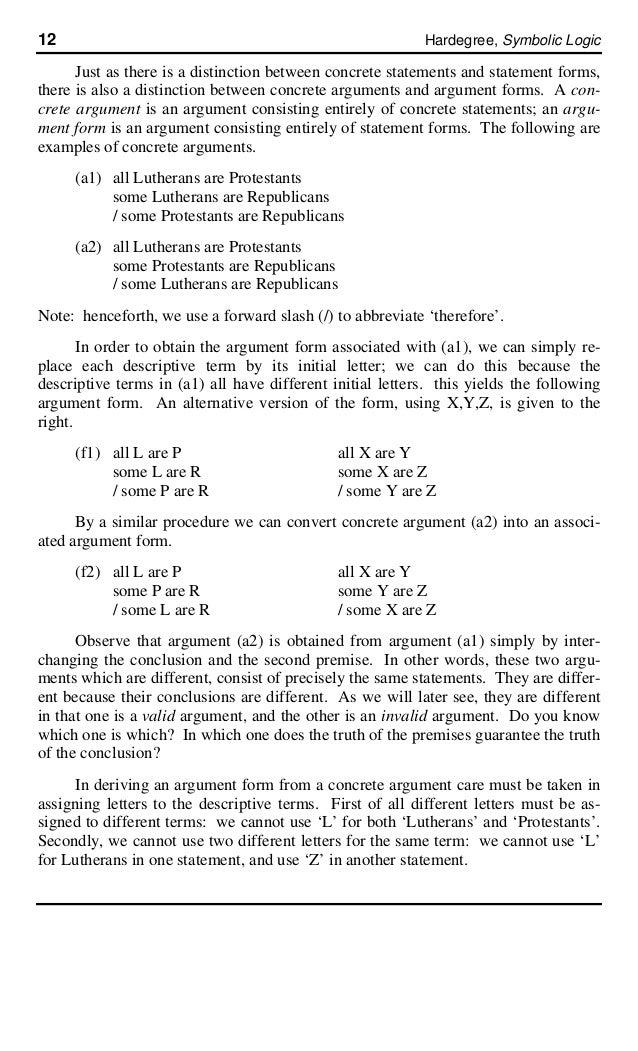 Basic Concepts Of Logic