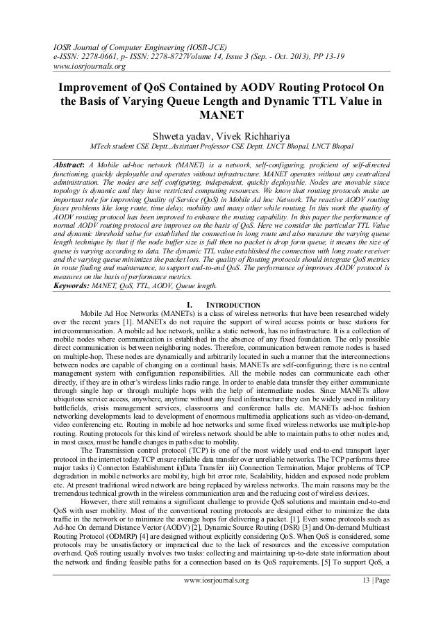 IOSR Journal of Computer Engineering (IOSR-JCE) e-ISSN: 2278-0661, p- ISSN: 2278-8727Volume 14, Issue 3 (Sep. - Oct. 2013)...