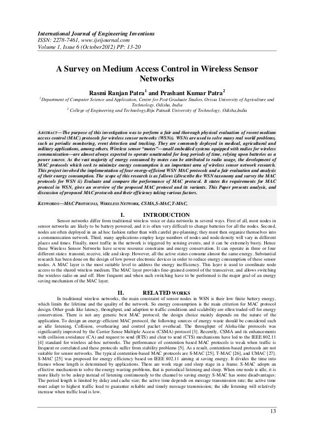 International Journal of Engineering InventionsISSN: 2278-7461, www.ijeijournal.comVolume 1, Issue 6 (October2012) PP: 13-...