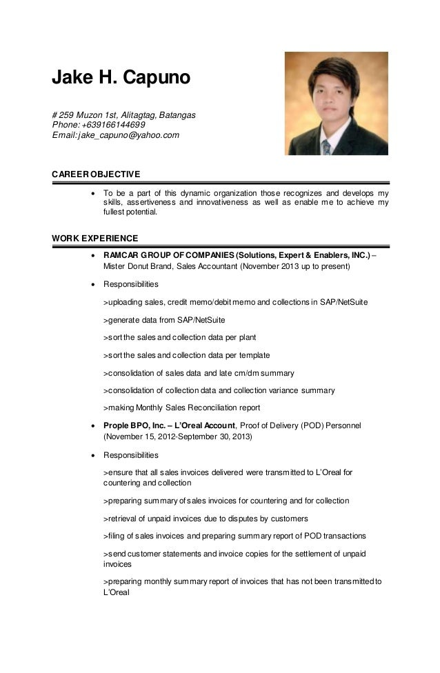Updated resume examples