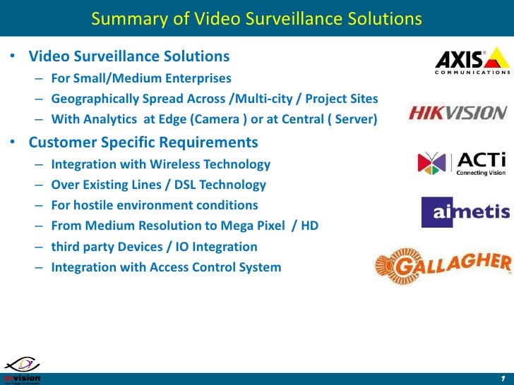 envision security cameras envision solution services overview