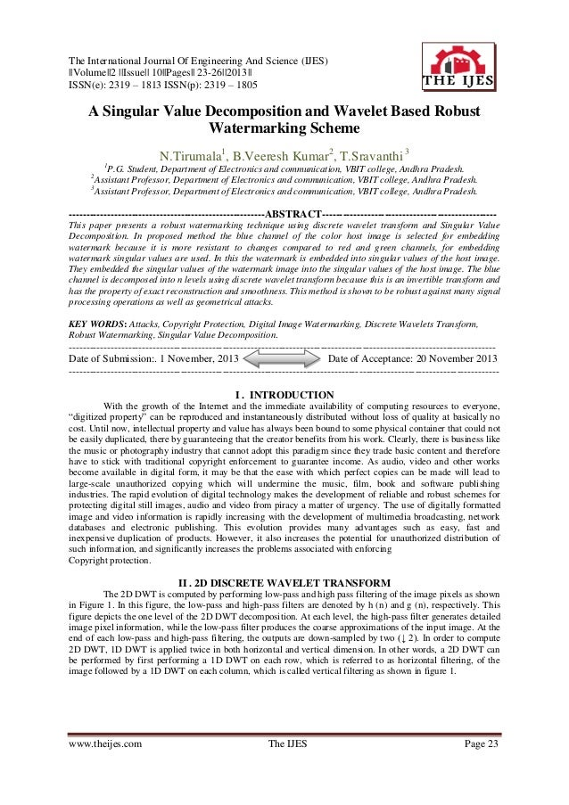 The International Journal Of Engineering And Science (IJES) ||Volume||2 ||Issue|| 10||Pages|| 23-26||2013|| ISSN(e): 2319 ...
