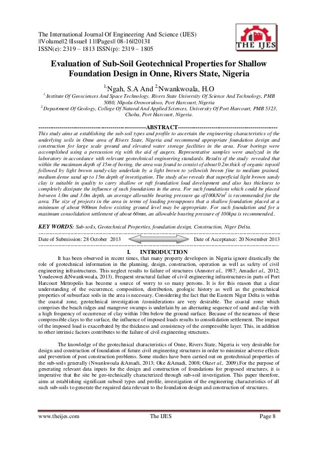 The International Journal Of Engineering And Science (IJES)   Volume  2   Issue   11  Pages   08-16  2013   ISSN(e): 2319 ...