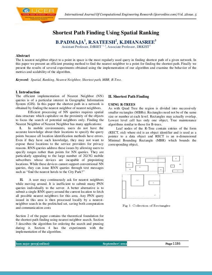 International Journal Of Computational Engineering Research (ijceronline.com) Vol. 2Issue. 5                          Shor...
