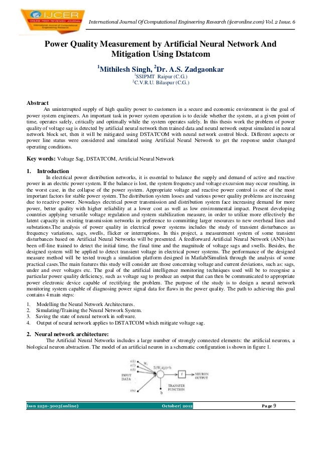 International Journal Of Computational Engineering Research (ijceronline.com) Vol. 2 Issue. 6        Power Quality Measure...