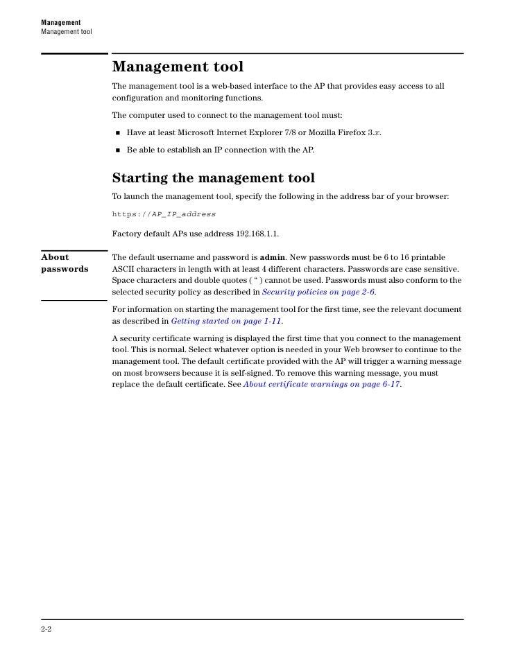 Management                                                                                Management toolCustomizing manag...