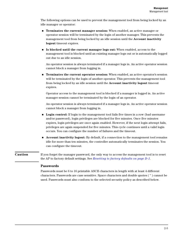 ManagementManagement tool                  Security policies                  Security policies affect both manager and op...