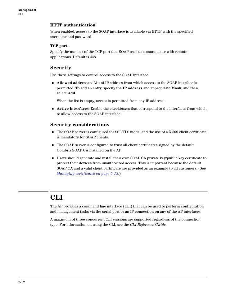 Management                                                                                                  CLI       Conf...
