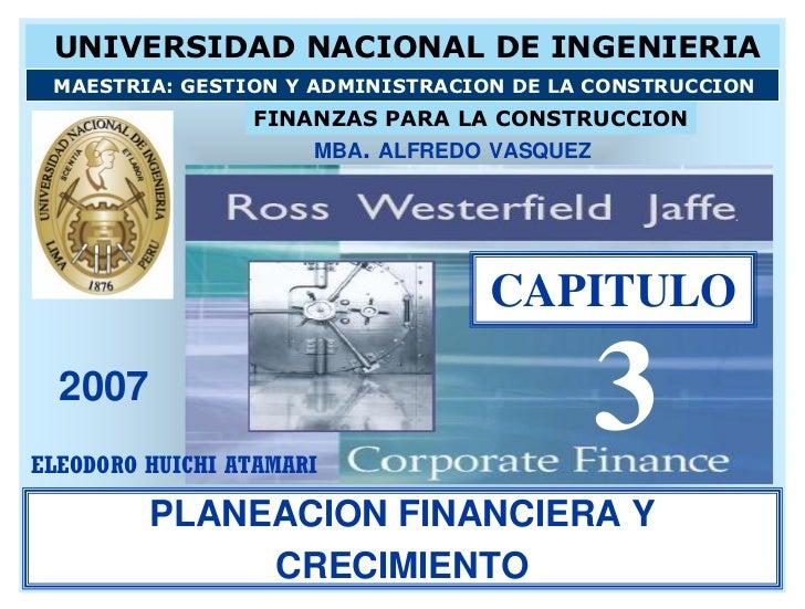 MBA ALFREDO VASQUEZ                               CAPITULO 2007                                     3        PLANEACION FI...