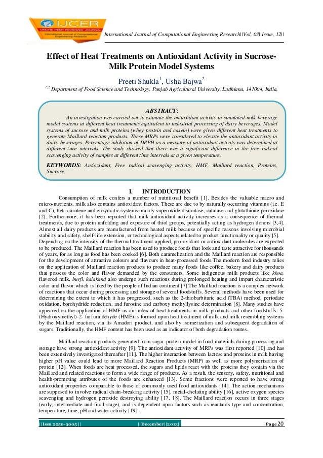 International Journal of Computational Engineering Research||Vol, 03||Issue, 12||  Effect of Heat Treatments on Antioxidan...