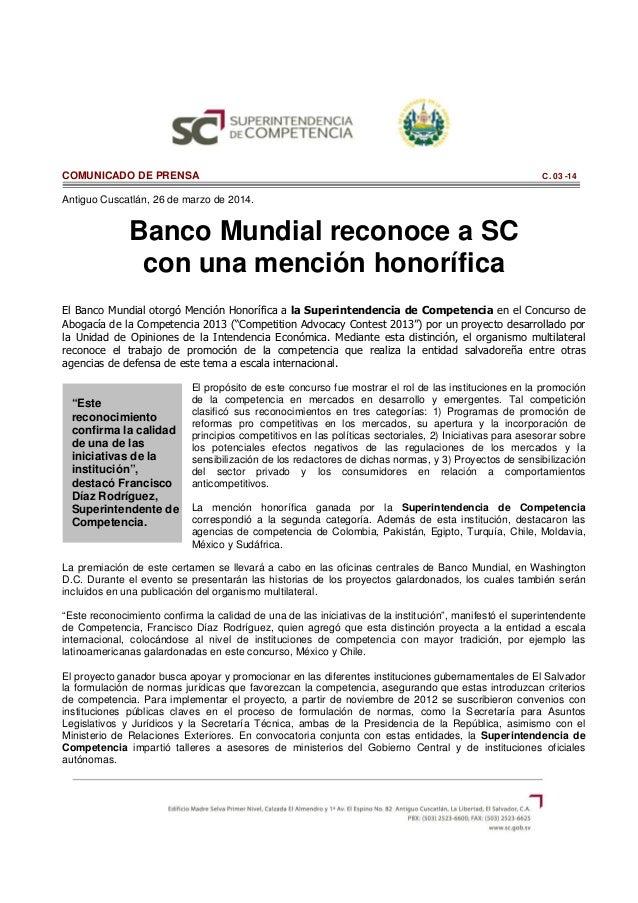"""""""Este reconocimiento confirma la calidad de una de las iniciativas de la institución"""", destacó Francisco Díaz Rodríguez, S..."""