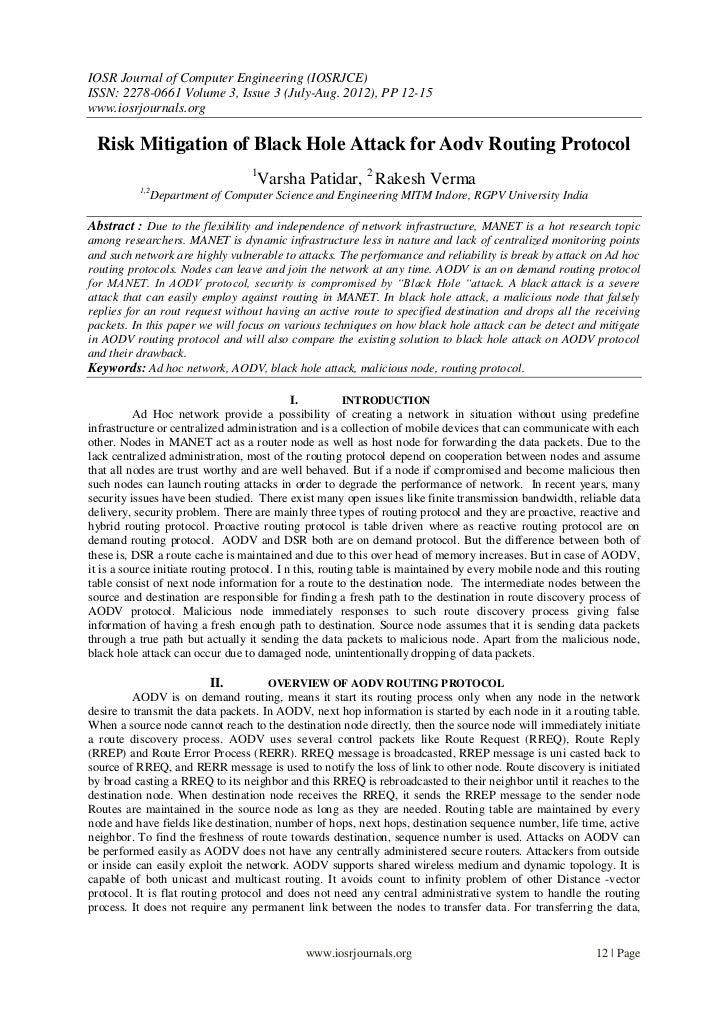 IOSR Journal of Computer Engineering (IOSRJCE)ISSN: 2278-0661 Volume 3, Issue 3 (July-Aug. 2012), PP 12-15www.iosrjournals...