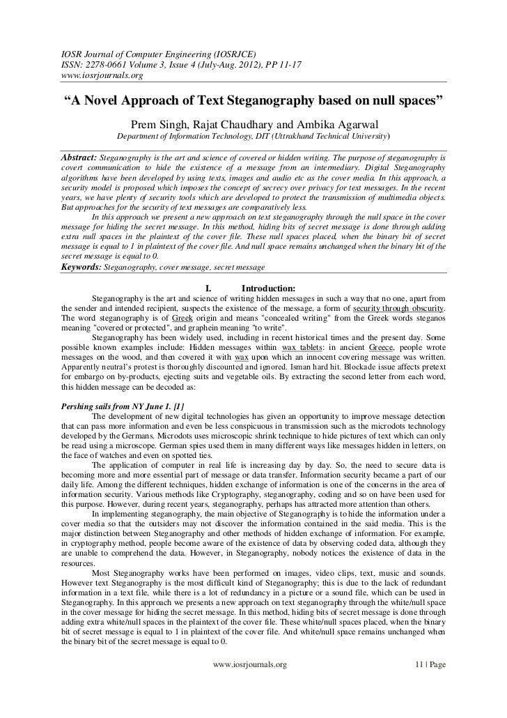 IOSR Journal of Computer Engineering (IOSRJCE)ISSN: 2278-0661 Volume 3, Issue 4 (July-Aug. 2012), PP 11-17www.iosrjournals...