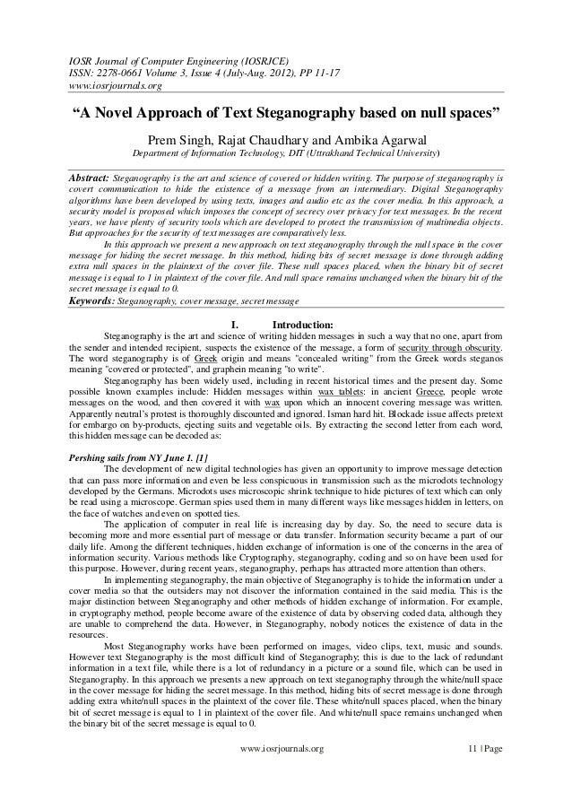 IOSR Journal of Computer Engineering (IOSRJCE) ISSN: 2278-0661 Volume 3, Issue 4 (July-Aug. 2012), PP 11-17 www.iosrjourna...