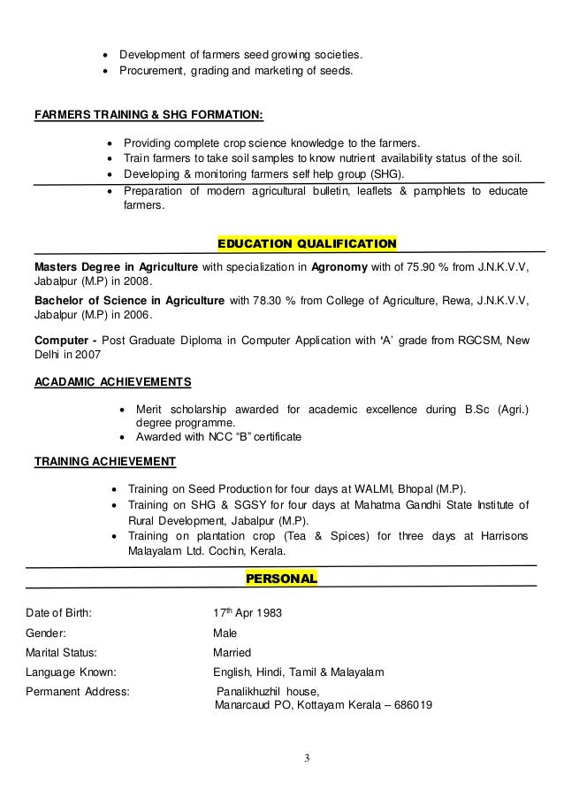 farmer resume examples - Selo.l-ink.co