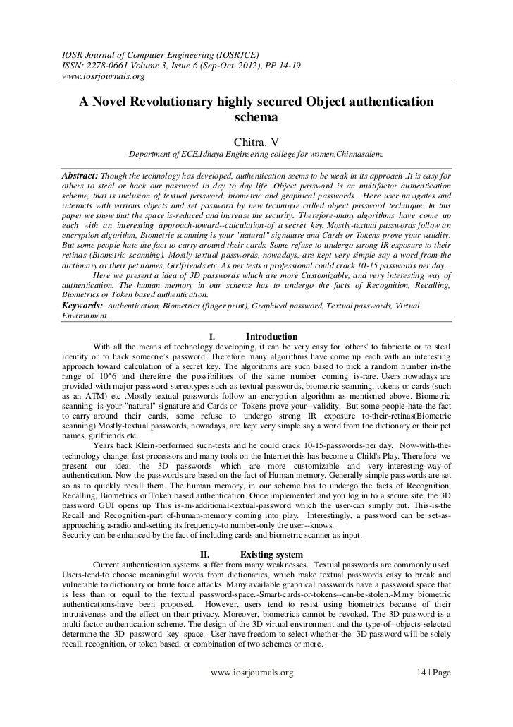 IOSR Journal of Computer Engineering (IOSRJCE)ISSN: 2278-0661 Volume 3, Issue 6 (Sep-Oct. 2012), PP 14-19www.iosrjournals....