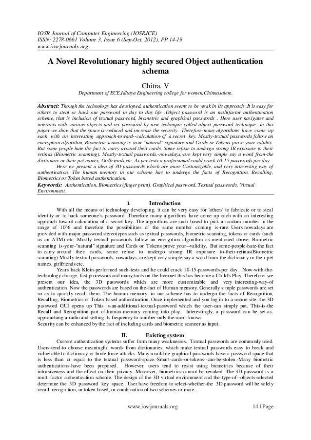 IOSR Journal of Computer Engineering (IOSRJCE) ISSN: 2278-0661 Volume 3, Issue 6 (Sep-Oct. 2012), PP 14-19 www.iosrjournal...