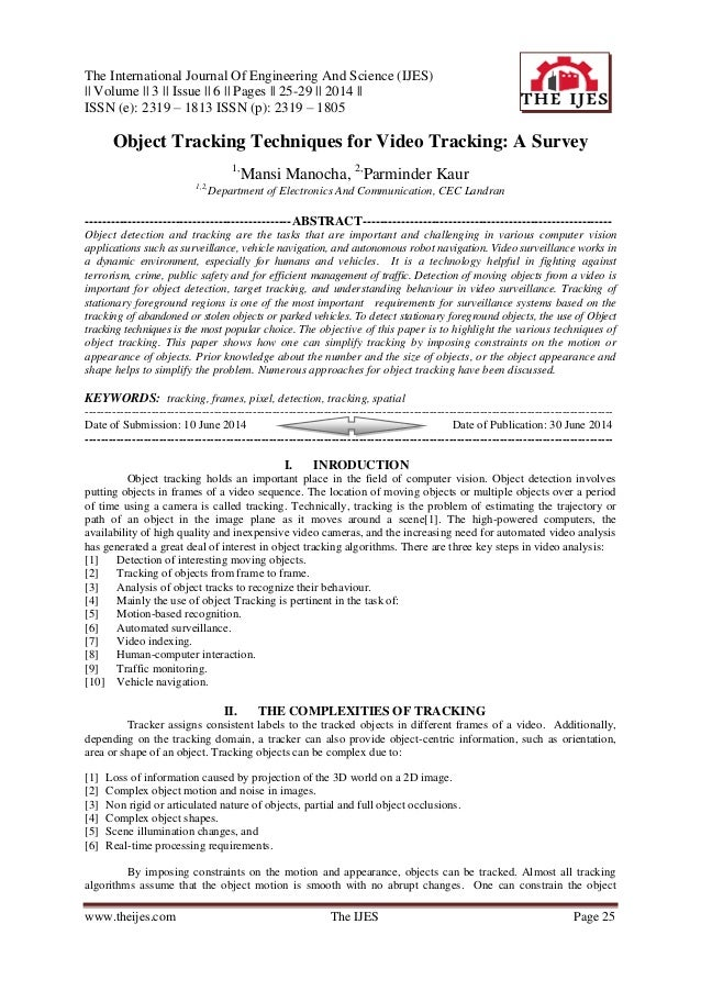 The International Journal Of Engineering And Science (IJES) || Volume || 3 || Issue || 6 || Pages || 25-29 || 2014 || ISSN...