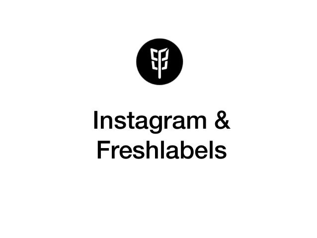 Instagram & Freshlabels