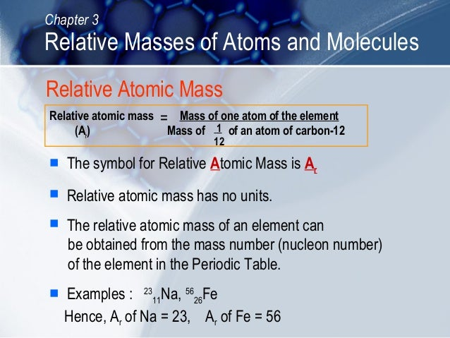 C03 relative masses of atoms and molecules 5 chapter 3 relative masses of atoms urtaz Images