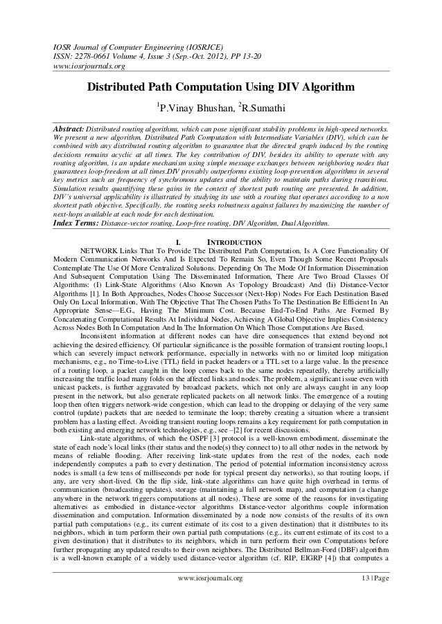 IOSR Journal of Computer Engineering (IOSRJCE) ISSN: 2278-0661 Volume 4, Issue 3 (Sep.-Oct. 2012), PP 13-20 www.iosrjourna...
