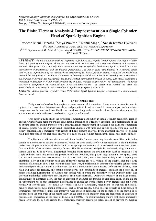 Research Inventy: International Journal Of Engineering And Science Vol.4, Issue 4 (April 2014), PP 20-26 Issn (e): 2278-47...