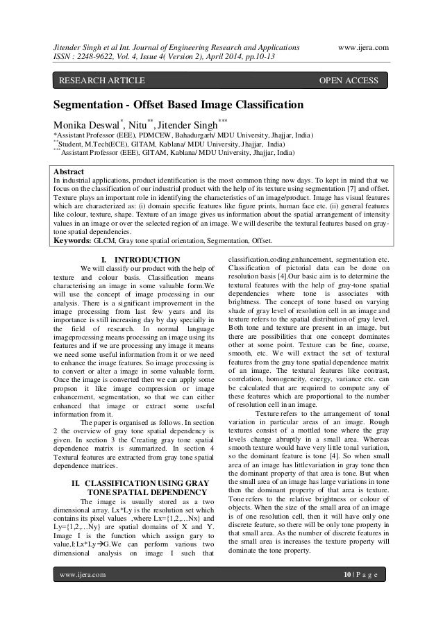 Jitender Singh et al Int. Journal of Engineering Research and Applications www.ijera.com ISSN : 2248-9622, Vol. 4, Issue 4...