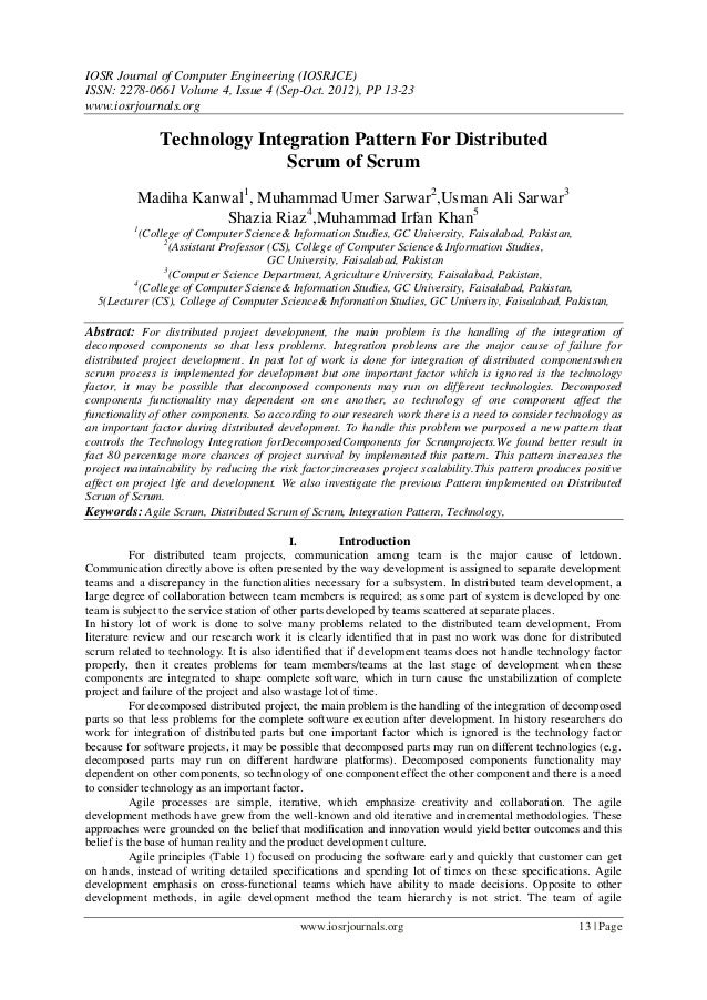 IOSR Journal of Computer Engineering (IOSRJCE) ISSN: 2278-0661 Volume 4, Issue 4 (Sep-Oct. 2012), PP 13-23 www.iosrjournal...