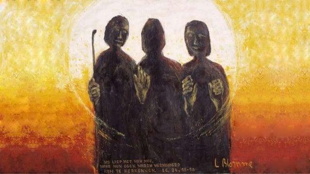 Gebroken gaan ze weer naar huis, hoe is hun hoop vervlogen, men sloeg hun meester aan het kruis, niets kan de mannen troos...