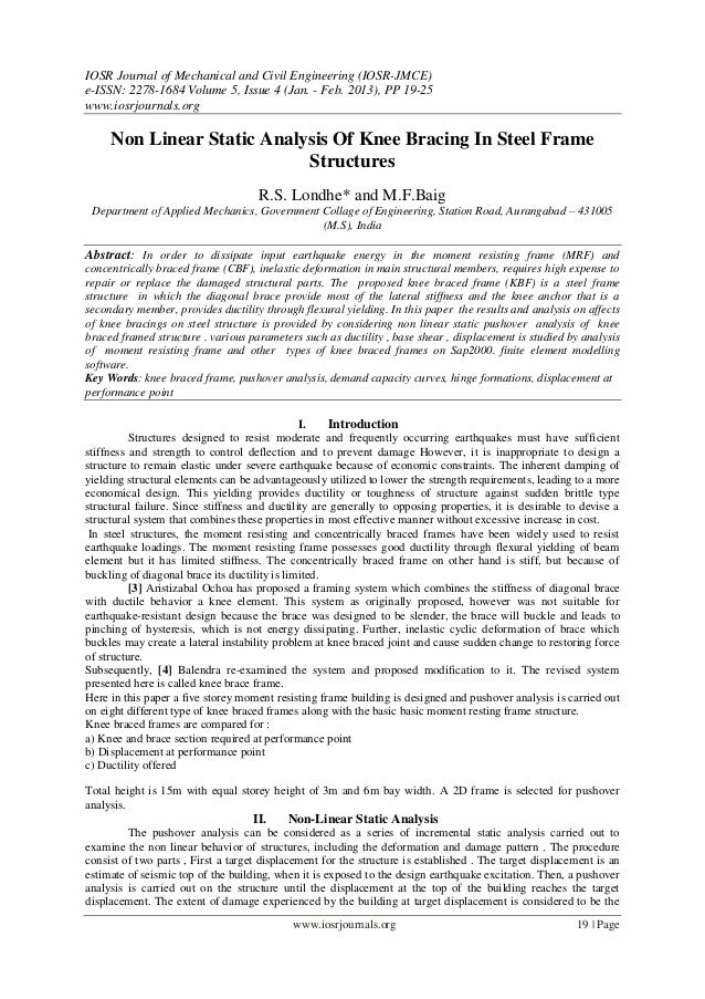 IOSR Journal of Mechanical and Civil Engineering (IOSR-JMCE)e-ISSN: 2278-1684 Volume 5, Issue 4 (Jan. - Feb. 2013), PP 19-...