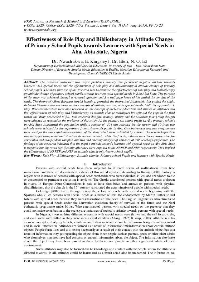 IOSR Journal of Research & Method in Education (IOSR-JRME) e-ISSN: 2320–7388,p-ISSN: 2320–737X Volume 5, Issue 4 Ver. II (...