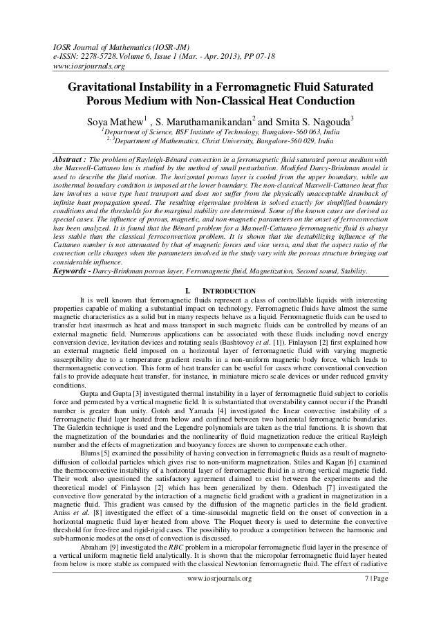 IOSR Journal of Mathematics (IOSR-JM)e-ISSN: 2278-5728.Volume 6, Issue 1 (Mar. - Apr. 2013), PP 07-18www.iosrjournals.orgw...